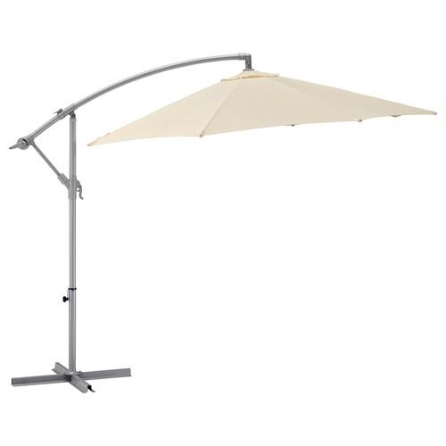 KARLSÖ parasol, hanging beige 260 cm 300 cm