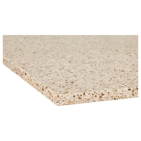 KASKER Custom made worktop, beige/brown mineral effect/quartz, 1 m²x4.0 cm