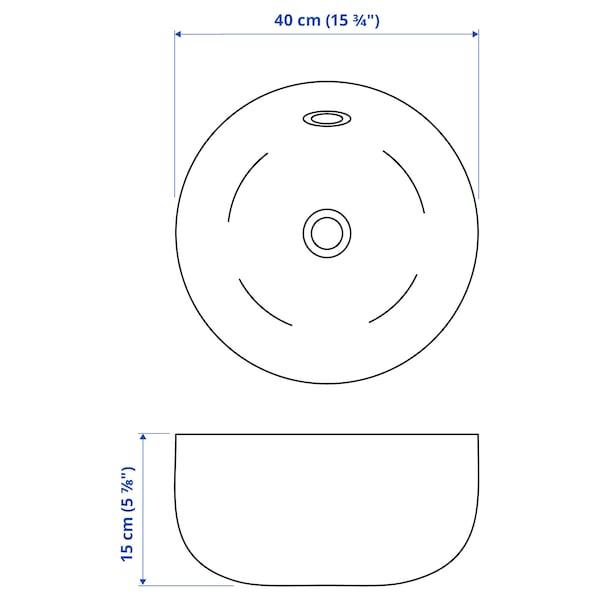 KATTEVIK Countertop wash-basin, white, 40 cm