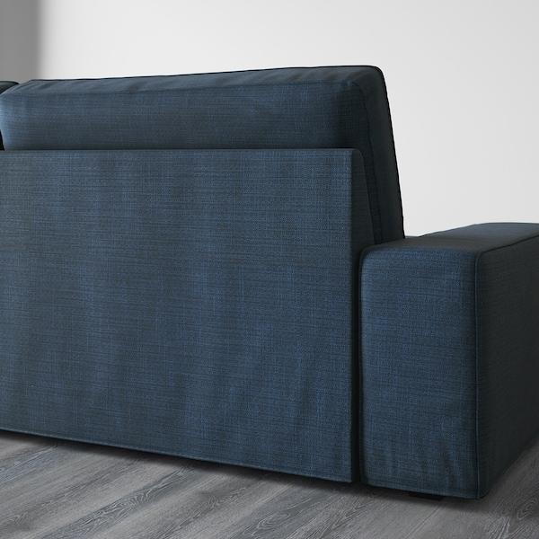 KIVIK 4-seat sofa, with chaise longue/Hillared dark blue