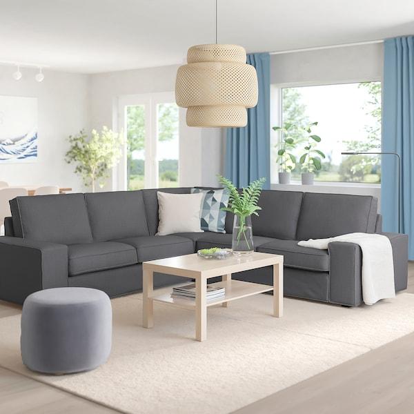 KIVIK corner sofa, 4-seat Skiftebo dark grey 95 cm 83 cm 257 cm 257 cm 60 cm 45 cm