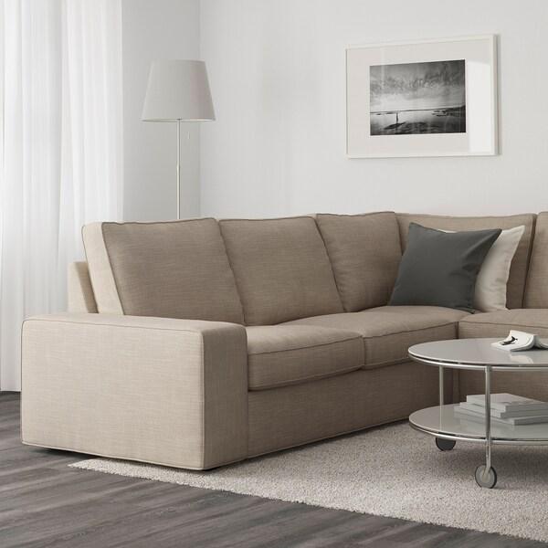 Kivik Corner Sofa 5 Seat Hillared Beige Ikea