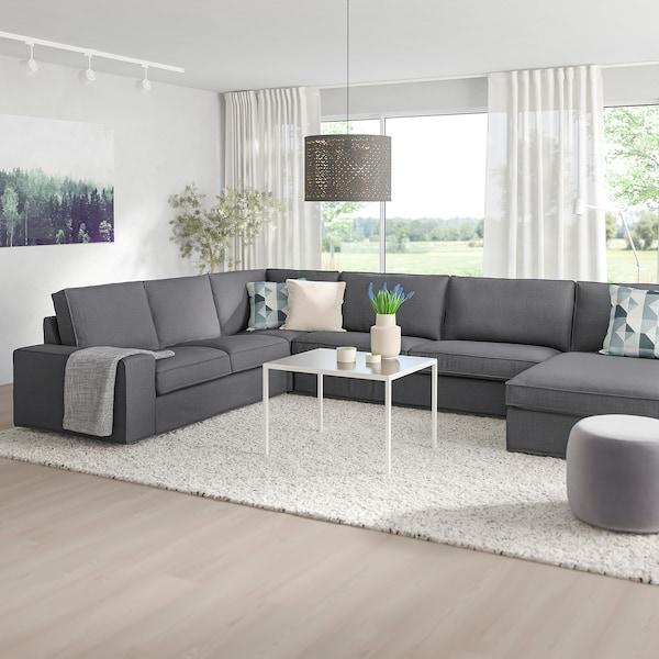 KIVIK Corner sofa, 6-seat, with chaise longue/Skiftebo dark grey