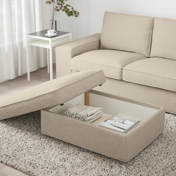 KIVIK Footstool with storage, Hillared beige