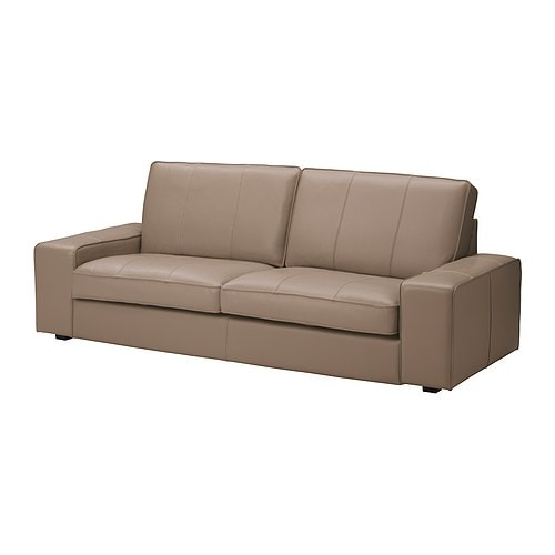 Kivik three seat sofa grann bomstad beige ikea for Canape leather sofa
