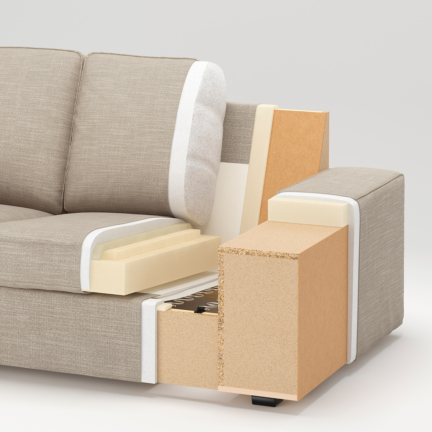 KIVIK Three-seat sofa - Hillared beige