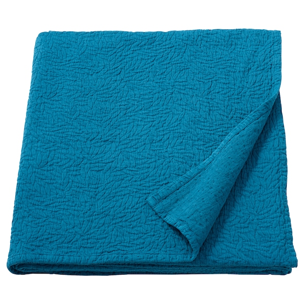 KLASEFIBBLA غطاء سرير, أزرق, 260x250 سم
