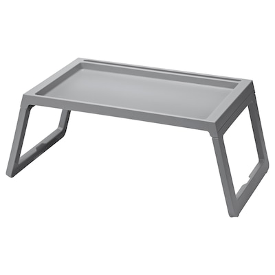 KLIPSK Bed tray, grey