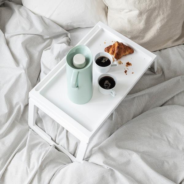KLIPSK صينية سرير, أبيض