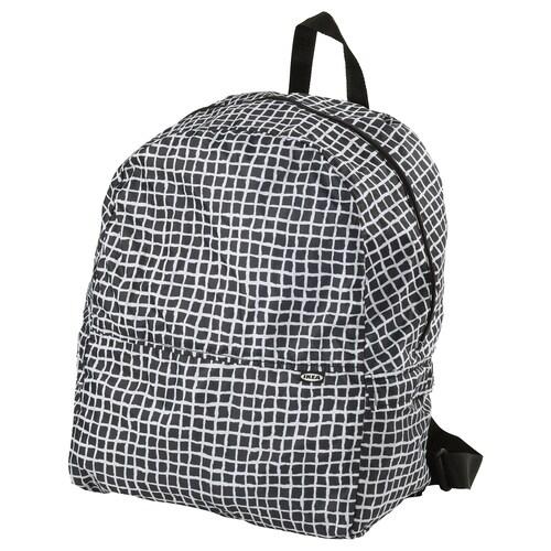 KNALLA backpack black/white 35 cm 20 cm 45 cm 28 l