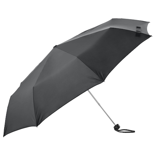 KNALLA umbrella foldable black 24 cm 57 cm 95 cm