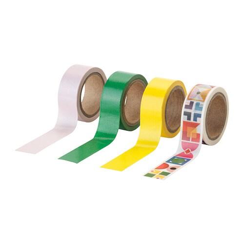 Knallgul roll of tape ikea for Cassette ikea