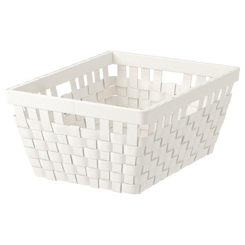 KNARRA basket white 38 cm 29 cm 16 cm
