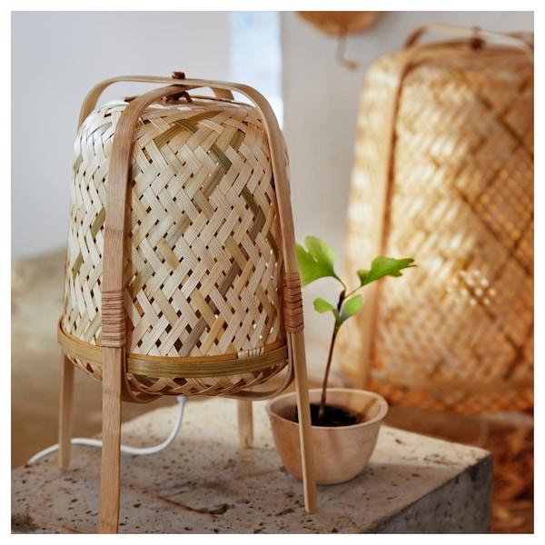 KNIXHULT مصباح طاولة, خيزران/صناعة يدوية