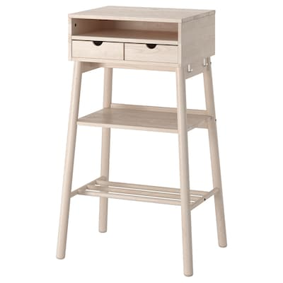 KNOTTEN Standing desk, white birch