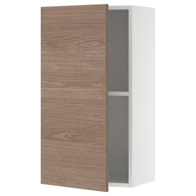 KNOXHULT خزانة حائط بباب, مظهر الخشب/رمادي, 40x75 سم