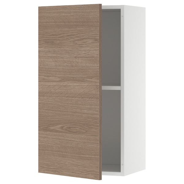 KNOXHULT Wall cabinet with door, wood effect/grey, 40x75 cm