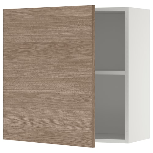 KNOXHULT wall cabinet with door wood effect/grey 60 cm 31 cm 60 cm