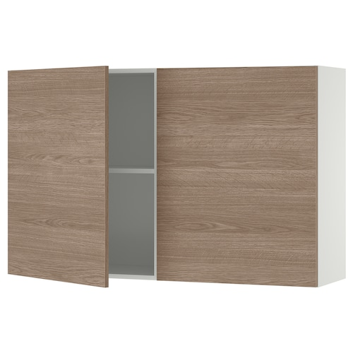 KNOXHULT wall cabinet with doors wood effect/grey 120.0 cm 31.0 cm 75.0 cm
