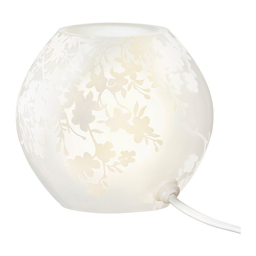 KNUBBIG Table lamp IKEA Gives a soft mood light.  Mouth blown glass; each lamp is unique.