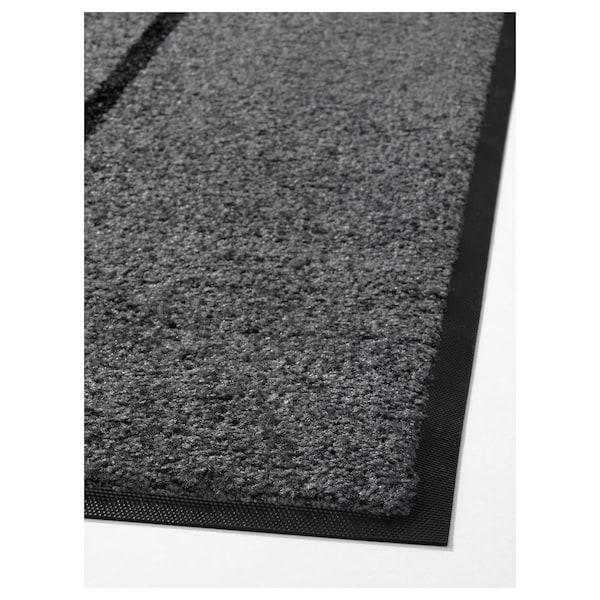 KÖGE Door mat, grey/black, 82x200 cm