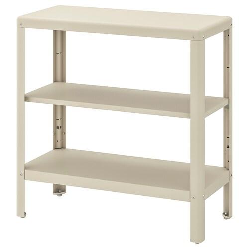 KOLBJÖRN shelving unit in/outdoor beige 80 cm 35 cm 81 cm 25 kg