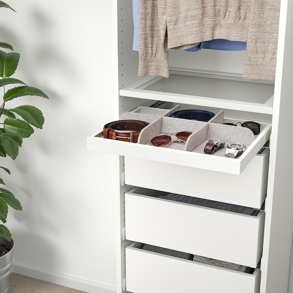 KOMPLEMENT Divider for pull-out tray, light grey, 50x35 cm