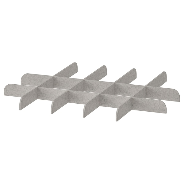 KOMPLEMENT Divider for pull-out tray, light grey, 75x58 cm