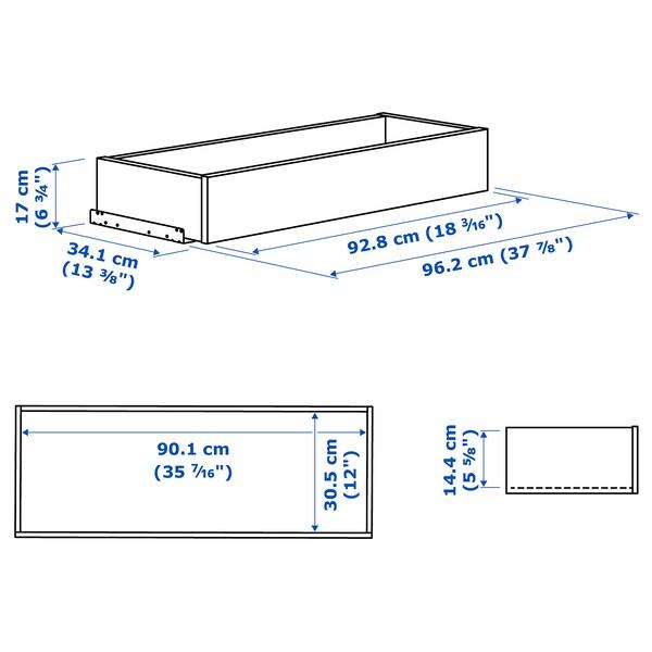 KOMPLEMENT درج بواجهة مؤطرة, أبيض, 100x35 سم
