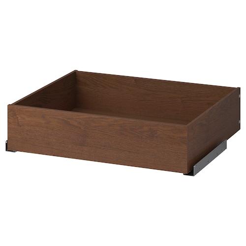 KOMPLEMENT drawer brown stained ash effect 75 cm 58 cm 67.8 cm 56.9 cm 16.0 cm 65.1 cm 53.3 cm