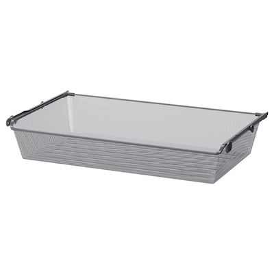 KOMPLEMENT Mesh basket with pull-out rail, dark grey, 100x58 cm