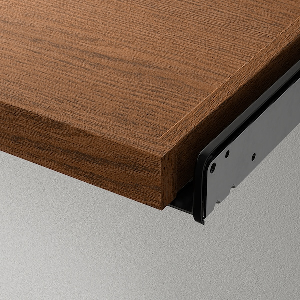 KOMPLEMENT Pull-out tray with shoe insert, brown stained ash effect/light grey, 75x58 cm