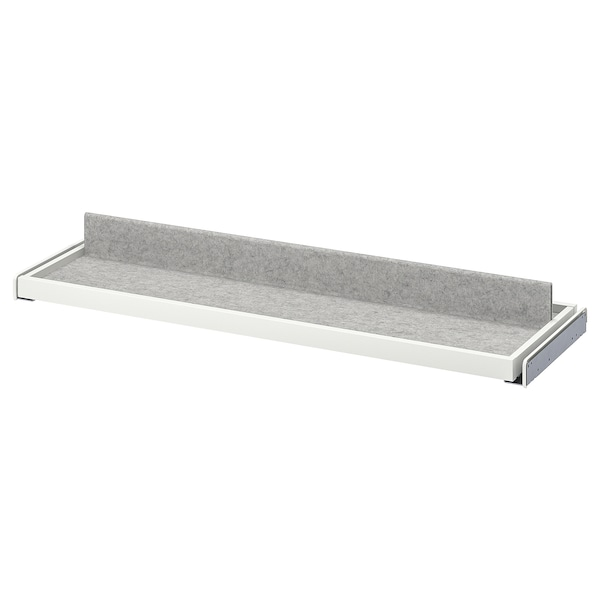 KOMPLEMENT Pull-out tray with shoe insert, white/light grey, 100x35 cm