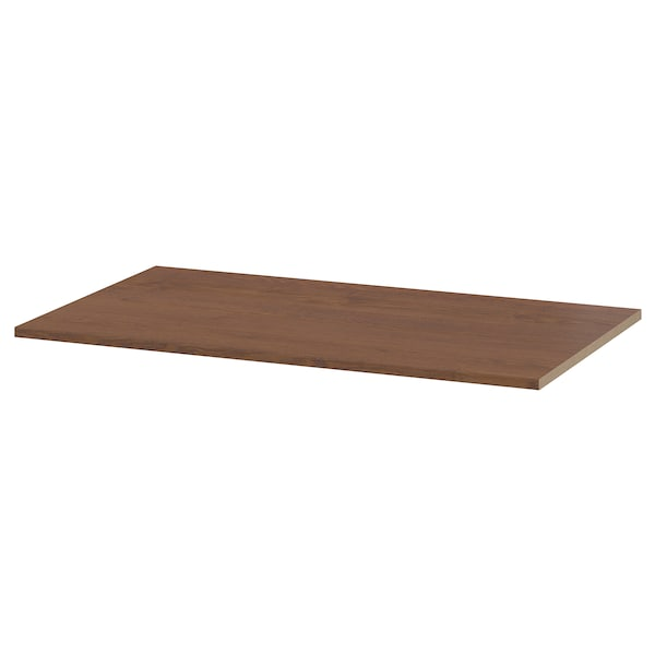 KOMPLEMENT رف, مظهر الخشب مصبوغ بني, 100x58 سم