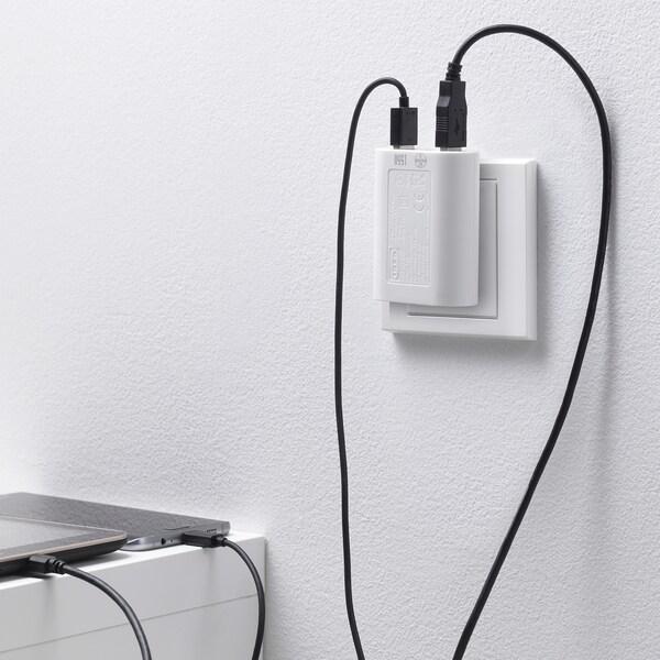 KOPPLA شاحن 3 مداخل USB, أبيض