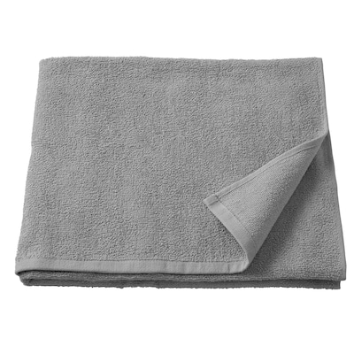 KORNAN منشفة حمّام, رمادي, 70x140 سم