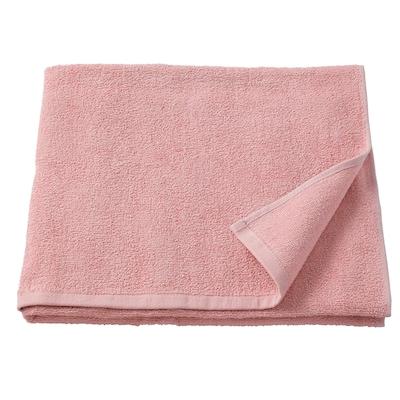 KORNAN Bath towel, pink, 70x140 cm