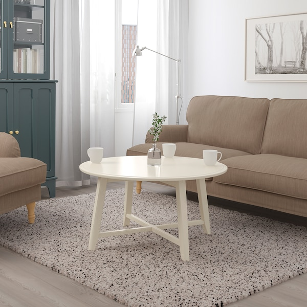 KRAGSTA coffee table light beige 48 cm 90 cm