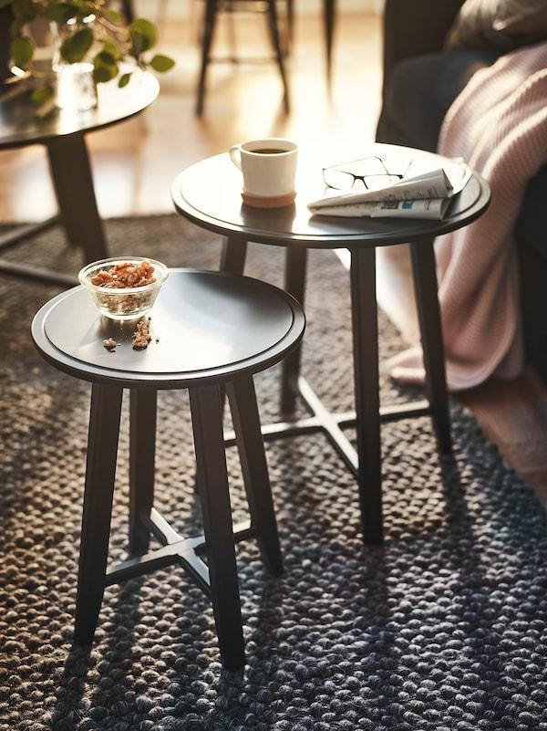 KRAGSTA Nest of tables, set of 2, black