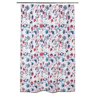 KRATTEN Shower curtain, white/multicolour, 180x200 cm