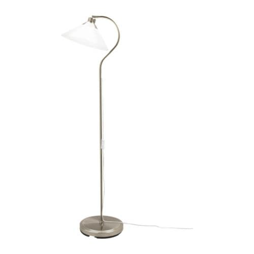KROBY Floor/reading lamp IKEA Shade of mouth blown glass; each shade is unique.