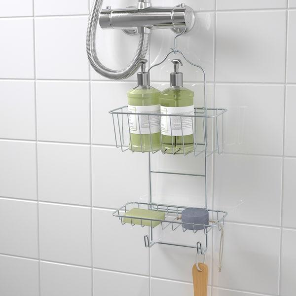 KROKFJORDEN Shower hanger, two tiers, zinc plated, 24x53 cm