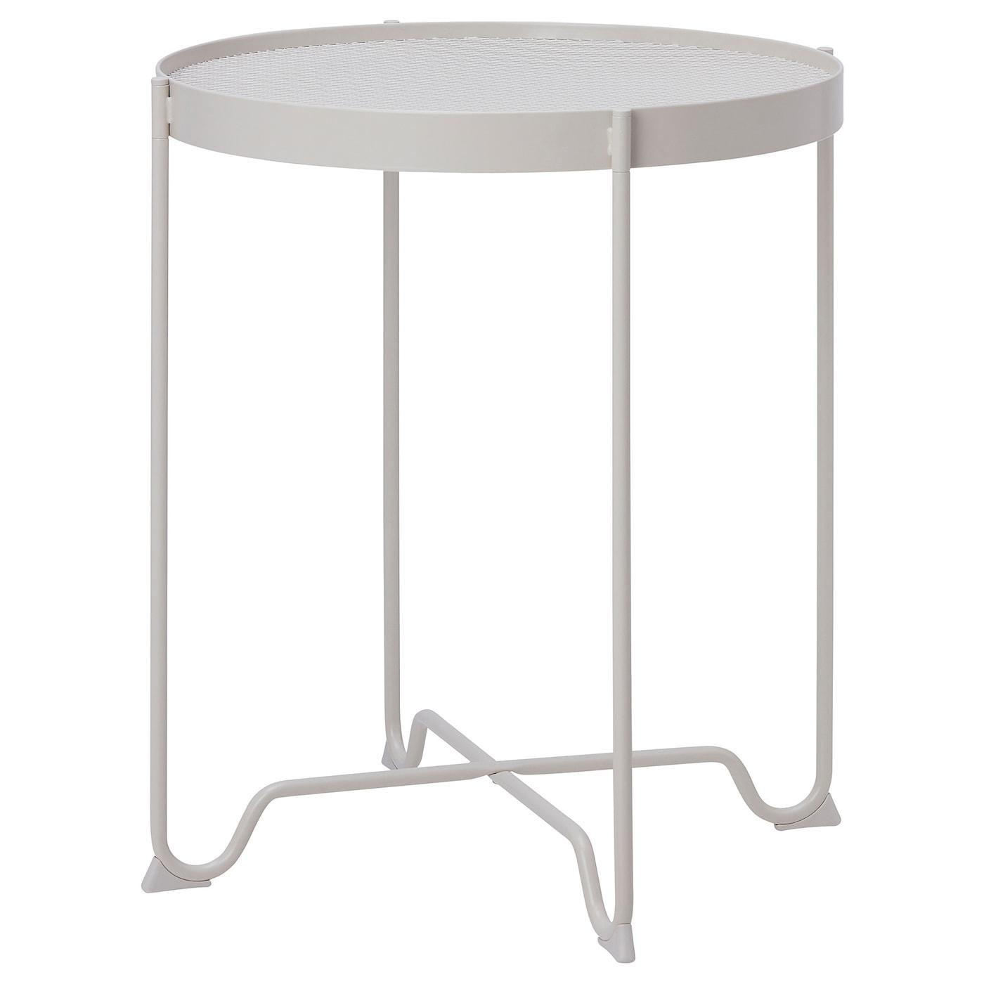 KROKHOLMEN Side table, outdoor - beige 5 cm
