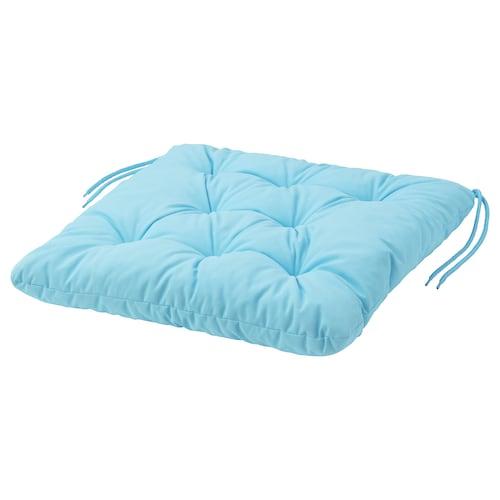 KUDDARNA chair cushion, outdoor light blue 44 cm 44 cm 7 cm