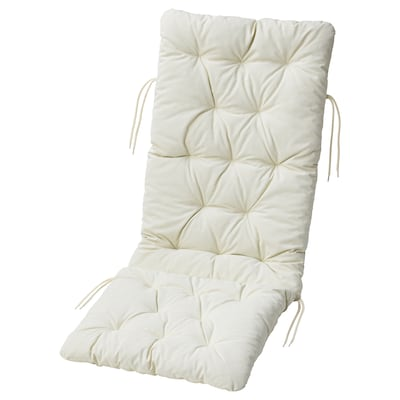 KUDDARNA Seat/back cushion, outdoor, beige, 116x45 cm
