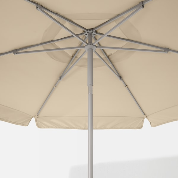 KUGGÖ / VÅRHOLMEN مظلة, رمادي/بيج, 300 سم