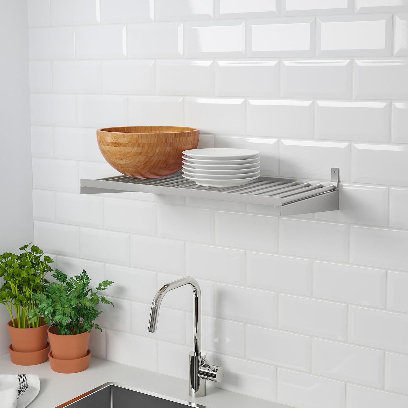KUNGSFORS Shelf - stainless steel 3 cm