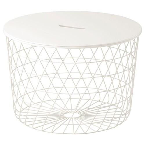 KVISTBRO storage table white 42 cm 61 cm