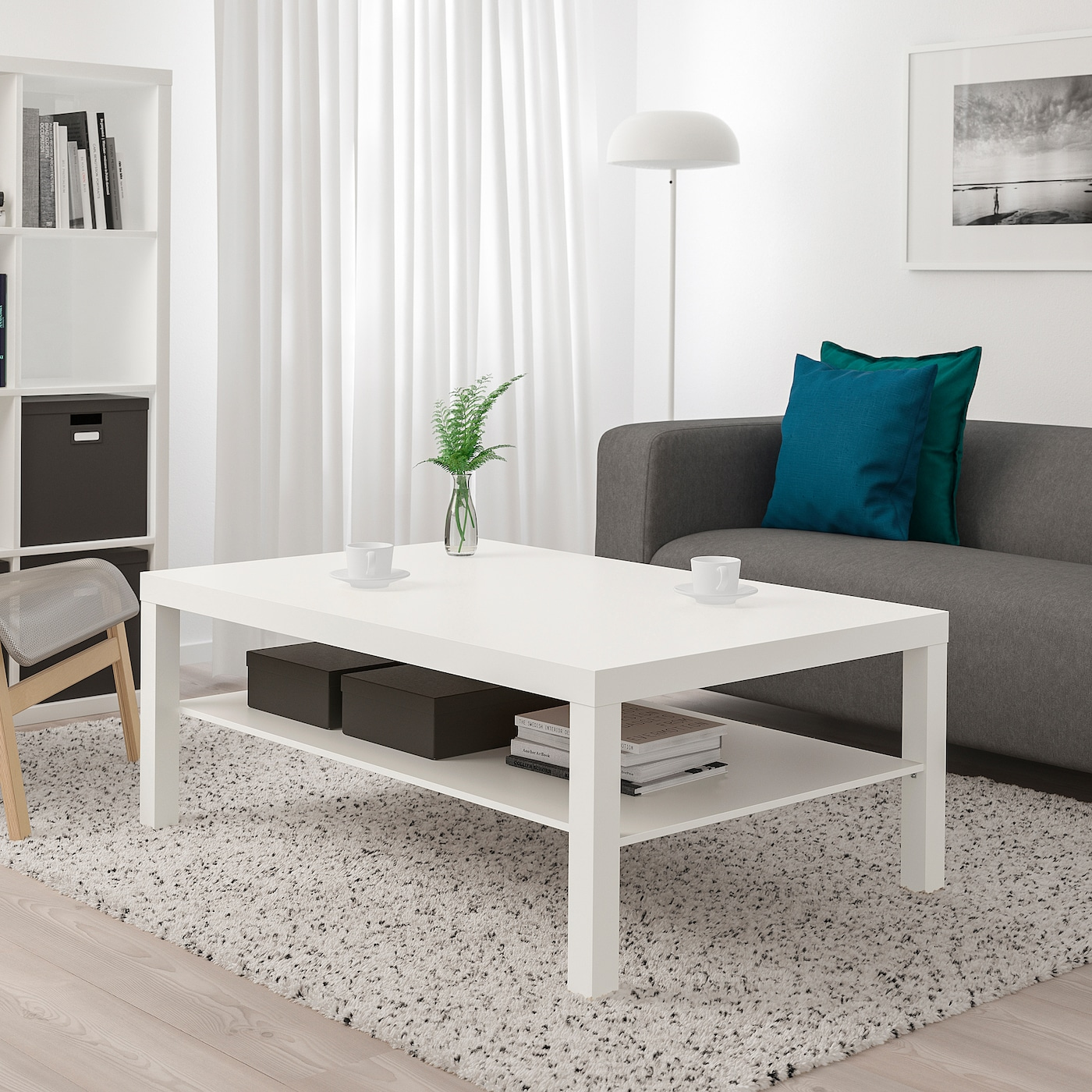 LACK Coffee table - white 3x3 cm