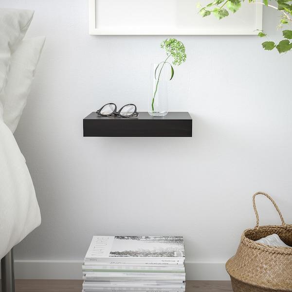 LACK رف حائط, أسود-بني, 30x26 سم